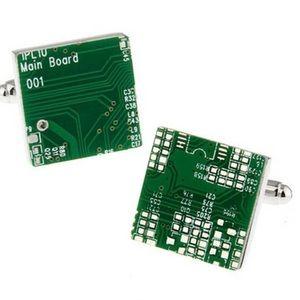 Cuff links circuit board unique business